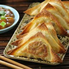 Low Calorie Veggie Wontons with Sweet and Sour Sauce