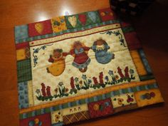 Vintage Alphabet wall hanging or table runner for by MarlenesAttic, $7.50