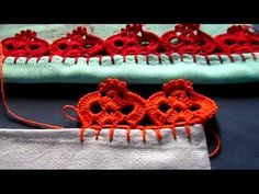 Bico em croche - 153 - YouTube Crochet Edging Patterns, Silk Ribbon Embroidery, Cata, Crochet Projects, Free Pattern, Crochet Earrings, Make It Yourself, Pink, Blog