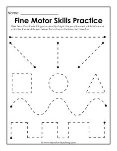 Use this Fine Motor Skills Practice Worksheet to practice fine motor skills, handwriting skills, drawing skills, and how to hold and grasp a pencil. Writing Practice Worksheets, Handwriting Worksheets, Tracing Worksheets, Kindergarten Worksheets, In Kindergarten, Toddler Worksheets, Handwriting Practice, Worksheets For Preschoolers, Fun Worksheets For Kids