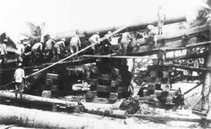 Japanese Special Naval Landing Force troops mount a British-made, Vickers eight-inch naval cannon into its turret on Betio before the battle of Tarawa. This film was developed from a Japanese camera found in the ruins while the battle was still on. Marine Corps Personal Papers, Boardman Collection - Pin it by GUSTAVO BUESO-JACQUIER