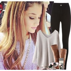 ~ I might be seeing Ariana in concert in March! ~ by courtneycarson3 on Polyvore featuring Falke and H&M