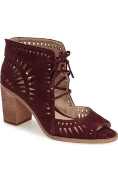 Main Image - Vince Camuto 'Tarita' Cutout Lace-Up Sandal (Women) (Nordstrom Exclusive)