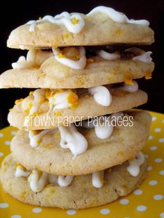 These Citrus White Chocolate Cookies will be made next Friday and eaten next Saturday. :-)