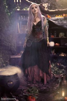 witch aesthetic, dark mori and strega fashion Fantasy Witch, Witch Art, Fantasy Art, Witch Cosplay, Witch Costumes, Fantasy Costumes, Beltane, Steampunk Witch, Steampunk Airship