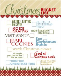 Christmas Bucket List FREE PRINTABLE howtonestforless.com/2012/11/21/christmas-subway-art-free-printable/#