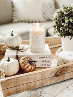 Calling all decor accounts! Join us now to find lots of inspo and connect with other decor accounts! Decoration Table, Tray Decor, Thanksgiving Decorations, Seasonal Decor, Fall Decorations, Fall Room Decor, Fall House Decor, Country Fall Decor, Rustic Fall Decor