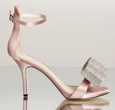3 Inch Heels, Open Toe Sandals, Ankle Strap, Crystals, Detail, Board, Leather, Wedding, Fashion
