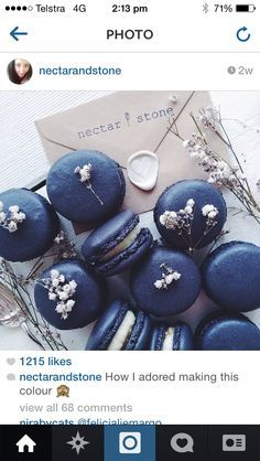 red,navy and white macarons - Google Search