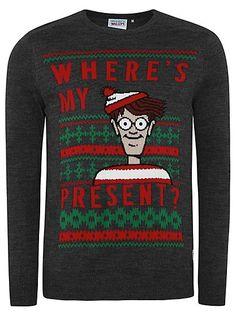 Cute Christmas Jumper - Where's Wally Christmas Jumper | Men | George at ASDA