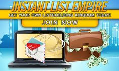 Guido Nussbaum has just started the Instant List Empire.This new website helps you to get more traffic to your websites and it will make it possible for you to build up your own list on autopilot! ...