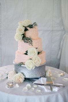 Wedding Cake, Cakes by Rachael - Maryland Wedding http://caratsandcake.com/sarahandhank