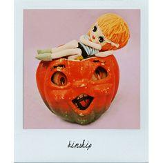 halloween doll pumpkin polaroid print KINSHIP by boopsiedaisy