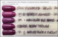 OPI I Manicure For Beads comparison swatches