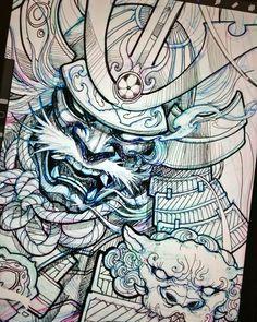 Tattoo antebrazo samurai Ideas for 2019 Mascara Samurai Tattoo, Samurai Warrior Tattoo, Warrior Tattoos, Samurai Drawing, Warrior Drawing, Samurai Art, Samurai Sketch, Tattoo Sketches, Tattoo Drawings