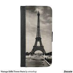 Vintage Eiffel Tower Paris Smartphone Wallet Case sold on Zazzle