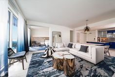 Courtesy of Meyer Davis Studio Here's an inside look at the first model unit at The Residences at the W Fort Lauderdale, which...