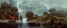 Lake, Andrey Maximov on ArtStation at http://www.artstation.com/artwork/lake-4632ebcd-d1f8-467c-b310-7a8b5cbbe283