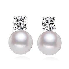 Pearl Stud Earrings, Pearl Studs, Sterling Silver Earrings Studs, Clip On Earrings, Women's Earrings, Fine Jewelry, Women Jewelry, Argent Sterling, Fashion Earrings