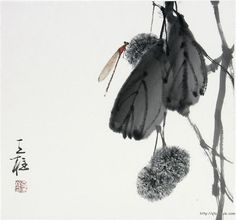 Qin Tianzhu (Цинь Тяньчжу). Sumi E Painting, Japan Painting, Chinese Painting, Moebius Art, Art Chinois, Ink In Water, Tinta China, China Art, Gravure