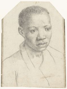 Antonio Carracci | Portret van een negerjongen, Antonio Carracci, 1595 - 1605 |