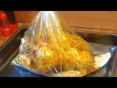 how to make roasted chicken in oven bag? فراخ مشويه فى كيس الفرن - YouTube