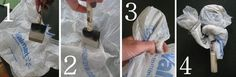 Need to take a break or waiting for paint to dry? Wrap your brush/roller in a plastic bag to keep it from hardening. | 47 Tips And Tricks To Ensure A Perfect Paint Job