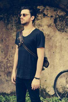 Shooting for Dude Mag ad. ph. Mirai Pulvirenti, model Claudio Salvatore, bag the Courier