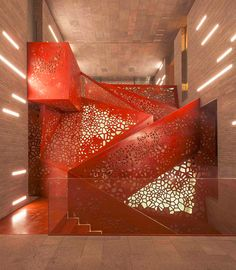 perforated metal staircase design