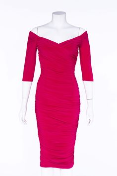 Laura Byrnes California Monica Dress in Hot Pink | Pinup Girl Clothing