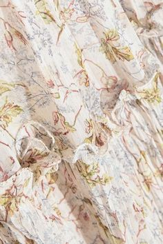 Philosophy di Lorenzo Serafini - Lace-paneled Floral-print Georgette Mini Dress - Cream - IT