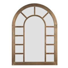 """Arched Window Mirror - This is probably a better proportion than the one we originally looked at. 34""""H x 24"""" W $239"""