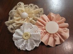 The Allens: Easy Peasy No-Sew Flower Pins
