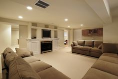 large scale basement in luxury home