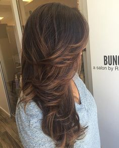 Natural highlights over chocolate brown