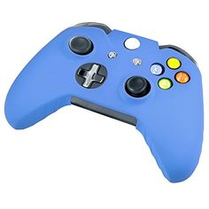 eForCity Blue Controller Silionce Case with FREE 3FT Blue Micro USB Flat Noodle Cable Compatible With Xbox One -- Click image for more details.