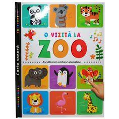 Aceasta carte sonora, frumos ilustrata, le prezinta celor mici viata animalelor de la gradina zoologica. Copiii se vor distra de minune invatand despre animalele salbatice si ascultand sunete amuzante. Pentru a le auzi, trebuie doar sa apese usor pe imaginile din carte.