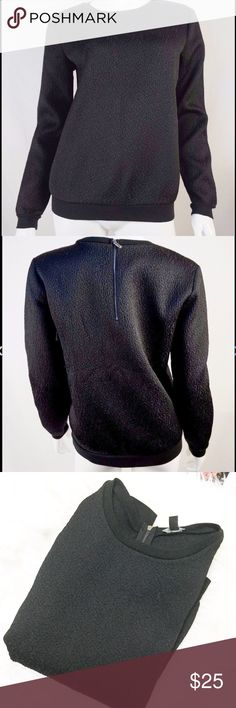 Black Textured Long Sleeve Sweatshirt Super cute textured sweatshirt by Ann Taylor. Size is small. TTS IMO. Zippered backside.  Posh rules only No paypal No lowballs pls  Price firm unless bundled.  I'm a suggested user and party host, posh ambassador, posh mentor, and I'm five star rated so buy with confidence!  H A P P Y  P O S H I N G  ⭐️✨⭐️✨⭐️✨😃✨⭐️✨⭐️✨⭐️ Ann Taylor Tops Sweatshirts & Hoodies