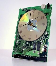 Question 2 The future of ewaste: a clock made from computer parts #ewaste #eraseewaste #eworst