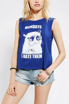 Urban Outfitters - Grumpy Cat I Hate Mondays Muscle Tee