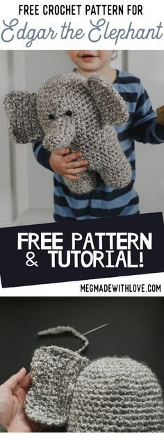 Pattern for a Crochet Elephant - Megmade with Love