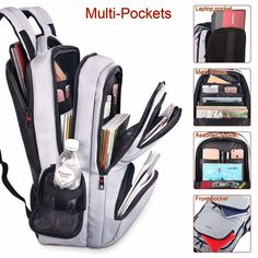 Details about KUPRINE Travel Anti Theft Slim Durable Laptop Backpacks for Women Mens Lightweig Cute Backpacks For School, College Backpacks, Backpacks For Travel, Best Backpacks, Girl Backpacks, Outdoor Style, Cool School Supplies, Laptop Storage, Laptop Rucksack