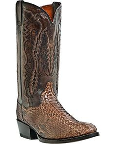 Dan Post Mens Bay Apache Python Brown Snake Cowboy Boots 10 M   You can find 882d18b620622
