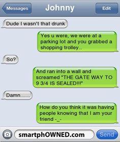 Lol funny drunk texts, i wasnt that drunk texts, funny jokes, stupid texts I Wasnt That Drunk Texts, Stupid Texts, Funny Drunk Texts, Funny Texts Crush, Funny Text Fails, Drunk Humor, Funny Text Messages, Cute Texts, Funny Jokes