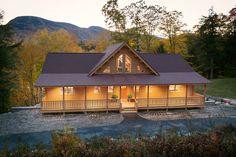 Katahdin Cedar Log Homes: 13198 roof line for our rear elevation