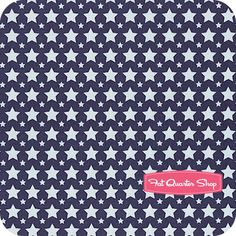 Nursery Fabric: Fatquartershop.com - One for the Boys by Zoe Pearn for Riley Blake Designs - Blue Stacked Stars SKU# C3173-BLUE $10.50