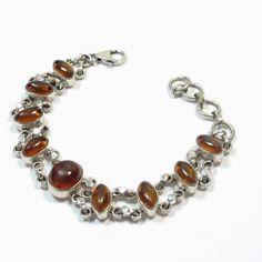 Bracelet argent et ambre  http://www.bijouxindiens.net/76-bracelets-argent-