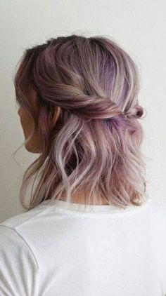 Half Side Twist + Purple Balayage