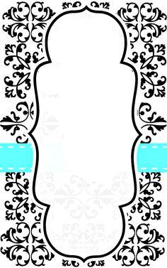 Free Printable Blank Damask Invitation - Free Printable @ Fresh Idea Studio.com
