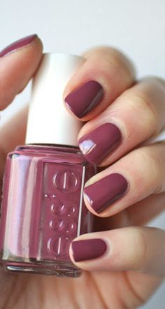 Beautiful new nail color from essie for this fall! #beauty #nailpolish #color